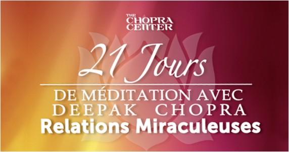 Méditation de Deepak Chopra de 21 jours