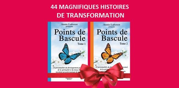 GRANDE NOUVELLE ! Les livres «Points de bascule» Tome 1 et 2 sont maintenant disponibles dans toutes les bonnes librairies au Québec